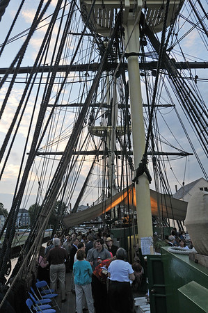 Salem: Guests packed the deck of the Friendship for Historic Salem Inc's annual fundraiser.  photo by Mark Teiwes / Salem News