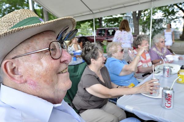 Peabody: Bob Hall enjoys a summer picnic with the St John the Baptist Church at Emerson Park. photo by Mark Teiwes / Salem News