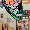 Hamilton: A large kite welcomes visitors to the children's room at the Hamilton-Wenham Public Library.  photo by Mark Teiwes /  Salem News