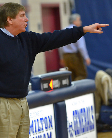 Hamilton: Hamilton-Wenham girls basketball coach Bill Burridge returns to coaching.   photo by Mark Teiwes  / Salem News