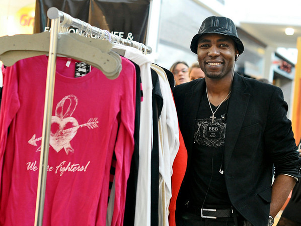 """Peabody: Fashion designer Bless Mazarura, Montserrat alumni showed off his line of clothes called """"Bless by Bless"""" at the North Shore Mall's fashion event called 'Fall"""" in Love with Fashion."""
