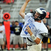 Lynn: Swampscott's Matt Barbuzzi launches the ball while playing quarterback at the 49th annual Agganis All-Staff Football Classic  photo by Mark Teiwes / Salem News
