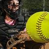 Danvers: Danvers High softball catcher Sam DiBella. Mark Teiwes / Salem News