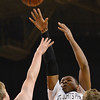 Worcester: St. John's Prep player Isaiah Robinson makes a shot. photo by Mark Teiwes / Salem News