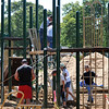 Beverly: After over a year of planning and fundraising a new playground was installed last weekend at Kimball-Haskell Park also known as Cove Park.  photo by Mark Teiwes / Salem News