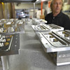 Danvers:  Parts for semiconductors are one of the many contract jobs done at the machine shop Metallic Fusion in Danversport, photo by Mark Teiwes / Salem News