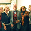 Ipswich: Alison Thompson, left, Marcia Gray, Phil Grenier, Judy Rusin, Wendy Evans, and Anna Traveis all from Ipwich gather together at the annual harvest supper fundraiser at the Ipswich Museum.  photo by Mark Teiwes / Salem News