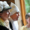 Topsfield:   14-year-old Lizzie Decker of Topsfield, left, came dressed in victorian era clothes to Mr. McGregor's Tea Party sponsored by the Historical Society. photo by Mark Teiwes / Salem News
