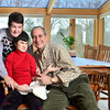Ipswich:  Vee and Walter Zagrobski with their daughter Heather, center.  photo by Mark Teiwes / Salem News