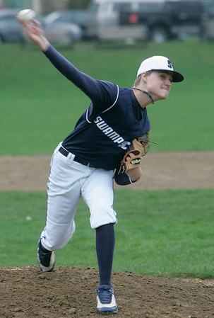 Marblehead: Swampscott starting pitcher Tom Keenan.  photo by Mark Teiwes