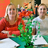 Salem: Wendy Spoto, left, and her daughter Samantha sell raffle tickets at St. Peter's Holiday Extravaganza. photo by Mark Teiwes / Salem News