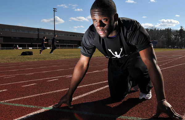 Peabody: Sprinter Nathaniel Gaye is ready for the outdoor season after competing in winter indoor track. photo by Mark Teiwes / Salem News