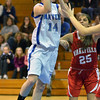 Danvers: Danvers player Sarah Palazola makes a lay-up at yesterday's game against Wakefield  photo by Mark Teiwes  / Salem News