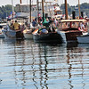 Salem: The bronze and varnished wood of the boats at the Antique and Classic Boat Festival filled Hawthorne Cove Marina.  photo by Mark Teiwes / Salem News