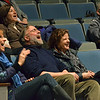 Hamilton:  Mary Scofield of Bevelry, left, Kim Bartlett of Ipswich, Carol Mcintyre of Iswich laugh at the jokes from Daniel Klein and Tom Cathcart's books.  photo by Mark Teiwes / Salem News