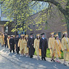 Peabody: The Bishop Fenwick High School class of 2011 graduates line up to process to their commencement ceremony.  photo by Mark Teiwes / Salem News