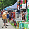 Salem: Craft, art, clothing, and food vendors filled one side of the Salem Common for the Culture Fest.  photo by Mark Teiwes / Salem News