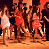 Salem: From left, Paula Miller, Jessica King, Amber Tejeda, Joy Lima, and Nathan Bertone dance the Cuban Shuffle at the Salem High School Junior/Senior Catillion.  photo by Mark Teiwes / Salem News