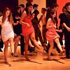 Salem: From left, Paula Miller, Jessica King, Amber Tejeda, Joy Lima, and Nathan Bertone dance the Cuban Shuffle at the Salem High School Junior/Senior Catillion.  photo by Mark Teiwes / Salem News