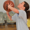 Beverly: Julia Pitman, 9, makes a shot. photo by Mark Teiwes  / Salem News