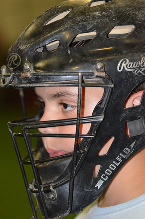 Peabody: Peabody National Little League all-star catcher Eric DeMayo practices for the District 15 Williamsport tournament next week.  photo by Mark Teiwes / Salem News