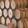 Ipswich:  Aged oak barrells are ready for the Privateer Rum.   photo by Mark Teiwes / Salem News