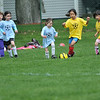 Hamilton: The Blue Dolphins and the Yellow Butterflies play in a Hamilton Wenham youth soccer game.  photo by Mark Teiwes / Salem News