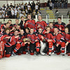 North Billerica:  Marblehead High School hockey celebrates their  Division 3 North championship.  photo by Mark Teiwes / Salem News