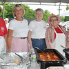 Danvers: Polish Club Picnic, pictured from left Jean Salvo, Jane Moroney, Nancy Taylor, Carolee Mcdonald, and Marsha Coogan.   photo by Mark Teiwes / Salem News