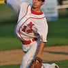 Salem: Marblehead's Crew Whittier throws a pitch in the finals of the Gallant Tournament versus Lynn. photo by Mark Teiwes /  Salem News