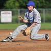 Saugus: Danvers 15-year-old Babe Ruth all-star second baseman Scott Marino fields the ball to make an out.  photo by Mark Teiwes / Salem News