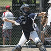 Danvers: Hamilton-Wenham catcher Ben Danforth throws to second in a District 15 Little League all-star game against Amesbury.   photo by Mark Teiwes / Salem News