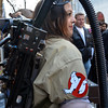 Salem: Maria LoPresti dressed as a Ghost Buster.  photo by Mark Teiwes / Salem News