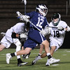 Boston: St. John's Prep player Matt Scalise busts through the Duxbury defense on his way to score. photo by Mark Teiwes