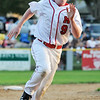 Salem: Marblehead's Drew Bisegna sprints to third base in the finals of the Gallant Tournament versus Lynn. photo by Mark Teiwes /  Salem News