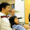 Hamilton: Kwang-Hyun Cho and his daughter Yana, 4, of Hamilton a relaxing time together.   photo by Mark Teiwes / Salem News