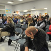 Wenham: Community members attend a school committee meeting at the Buker Elementary School.  photo by Mark Teiwes / Salem News