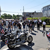Ipswich: Many people gathered to celebrate and remember the legacy of Master Sergeant Mark R. LaRochelle.   The square outside his childhood home, right, is named in his honor.   photo by Mark Teiwes / Salem News