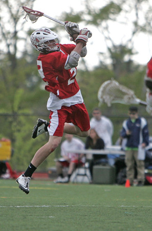 Wenham: Masco's Tim Towler launches a shot outside to score on Hamilton-Wenham.  photo by Mark Teiwes / Salem News