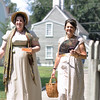 Salem: Emily Murphy, left, the Salem Maritime Park historian is dressed as Mrs. Archer who was a lady from 1804, and Debra Woods is dressed as Mrs. Hawks who lived in one of the historic houses now part of the maritime site.