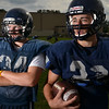 Middleton: North Shore Tech/Essex Aggie fullback and inside linebacker Tim Andersen, left and captain Ryan Fanning, tailback and outside linebacker  photo by Mark Teiwes  / Salem News