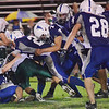 Danvers: Danvers High School football defense triple teams Pentucket's Ryan Kuchar. photo by Mark Teiwes / Salem News
