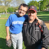 Salem: Patrick Chase, Salem Little League president, with his son Patrick Jr. photo by Mark Teiwes / Salem News