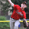 Danvers: Salem 11 starting pitcher Collin Nye releases a pitch during a game against the Rockford Peaches.  photo by Mark Teiwes / Salem News