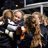 Lynn: Ipswich goalie Hannah O'Flynn, center, gets surrounded by her teammates in celebration of the teams win.  O'Flynn made many key saves during the game and in the shootout.  photo by Mark Teiwes / Salem News