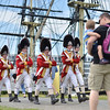 Salem: British Army re-enactors commemorating the 1774 move of the legislature from Boston to Salem at the Salem Maritime National Historic Site.  photo by Mark Teiwes / Salem News