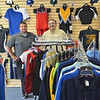 Middleton:  Sarkis Sarkisian Jr, left, and Sarkis Sarkisian stand in their new EmbroidMe North Shore store at 212 B South Main St. photo by Mark Teiwes / Salem News.