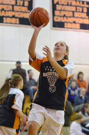 Ipswich: Ipswich's Sarah Antonucci puts makes a layup before a game against Masco.  photo by Mark Teiwes / Salem News