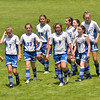 Hamilton: The Danvers Galaxy U-12 come off the field after beating the Andover Leopards 1-0 in the Essex Country Youth Soccer playoffs. photo by Mark Teiwes / Salem News