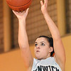 Peabody:  Amy Pelletier of Bishop Fenwick puts up a shot during practice.   photo by Mark Teiwes  / Salem News